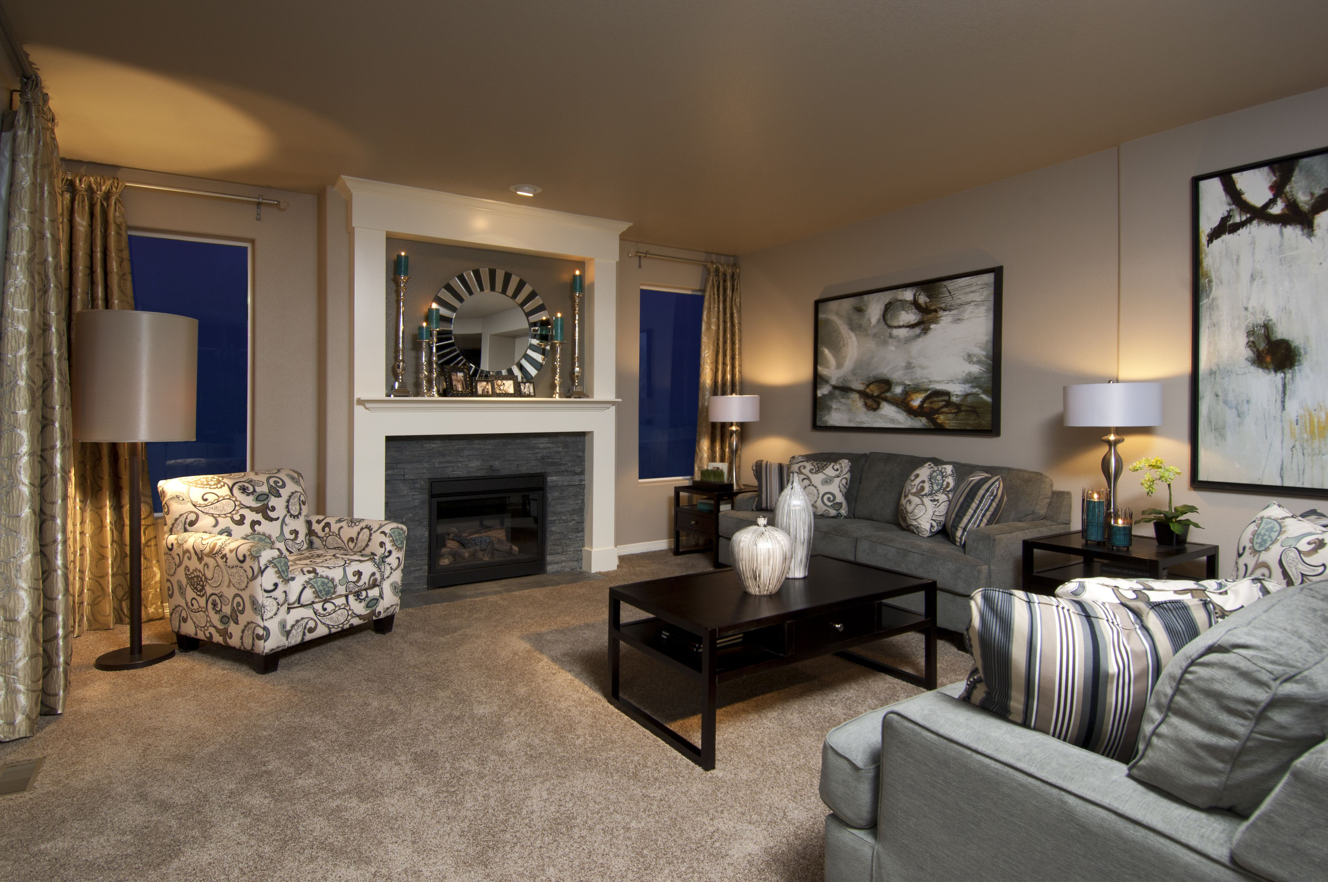 Colorado Springs New Homes Home Design   Reunion Homes Interior Design    Christy Cassidy Photography