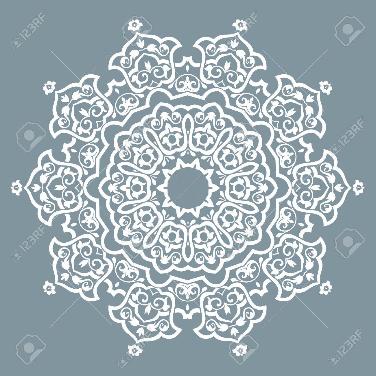 Turkish Design 35477623-round-pattern-mandala-abstract-design-of-persian-islamic