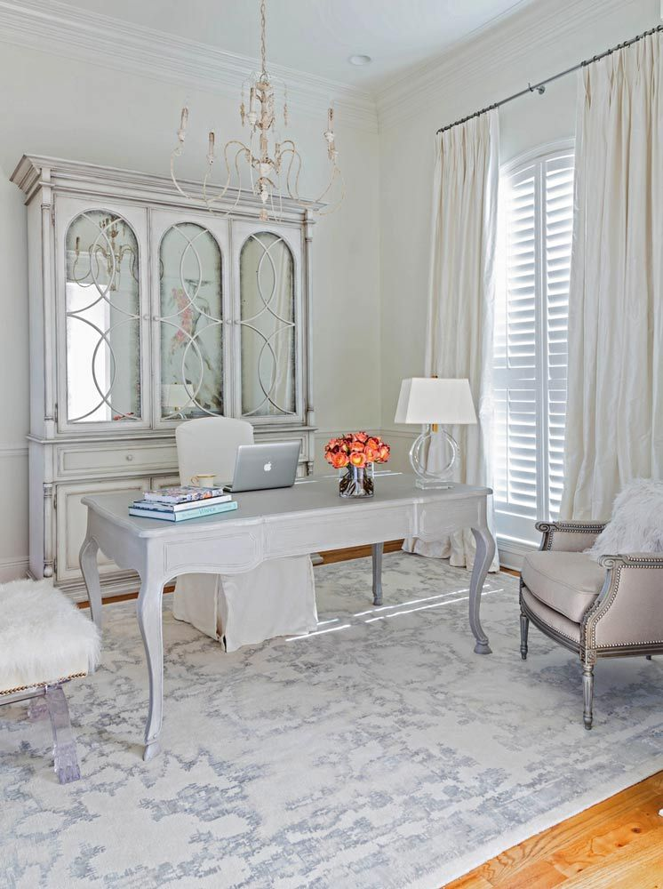 Twenty Amazingly Chic Home Offices Shabby Chic Office Decor