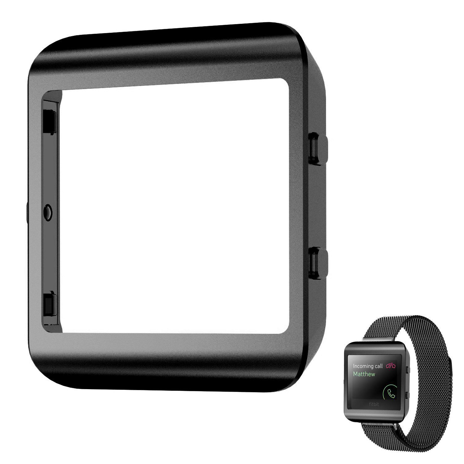 Shareconn New Style Replacement Accessory Steel Frame for Fitbit Blaze Smart Watch Black. Compatible for :Fitbit Blaze Smart Watches ,Note: this is the new style frame has been improved, it can be with you all fitbit blaze strap perfect matching, and the original strap can be perfect match. A collection designed with premium materials for style that stands the test of time. Size:1.83*1.58*0.24 In (4.65*4.01*0.61 cm) Completely fit Watches. Designed to be compatible with Fitbit Blaze....