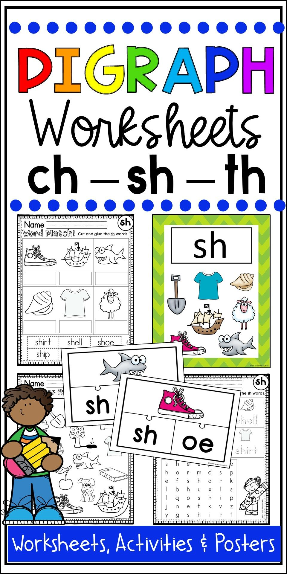 Digraph Activities And Worksheets For Kindergarten And First Grade Digraphs Worksheets Digraphs Activities Kindergarten Activities [ 1920 x 960 Pixel ]