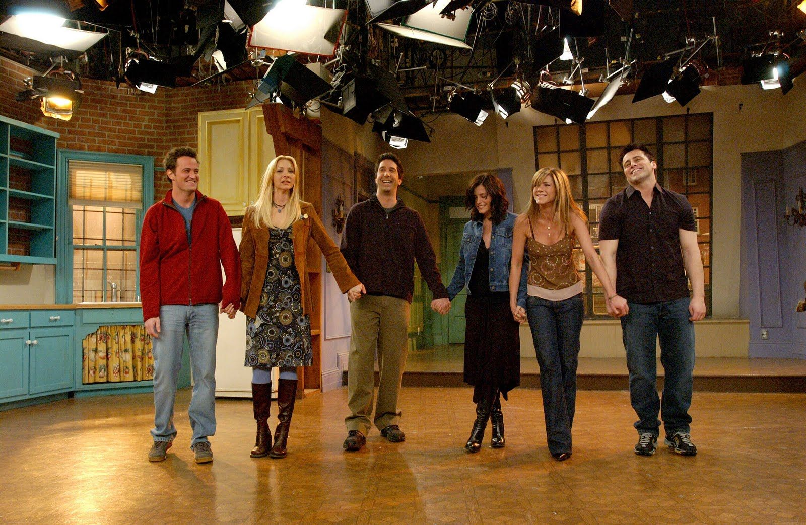 The cast at the final taping:(