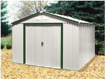 Metal Shed In Green Trim 10x12 Del Mar Duramax Sheds Metal Shed Shed