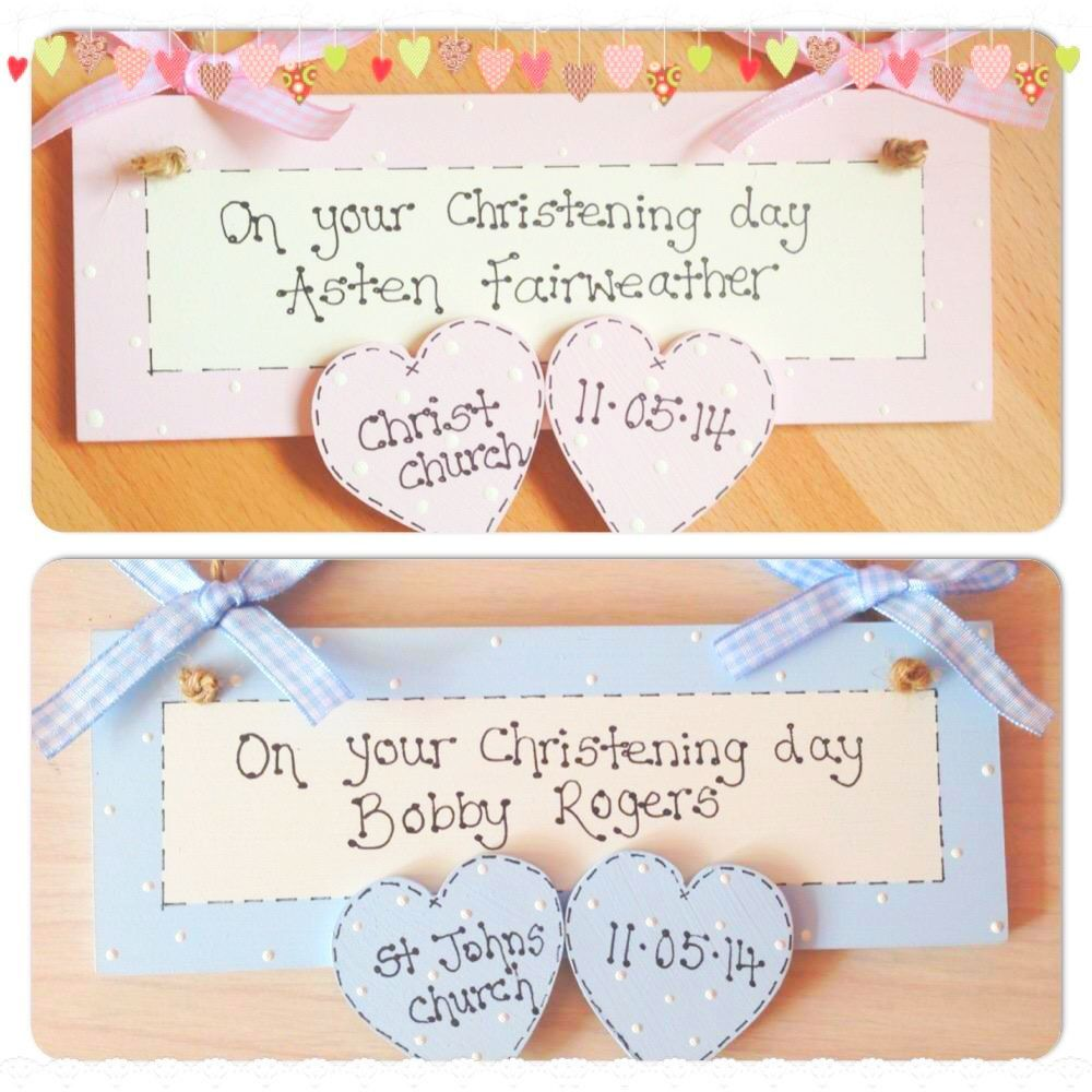 Personalised Wooden Plaque Christening Gift Baby Girl Bebes