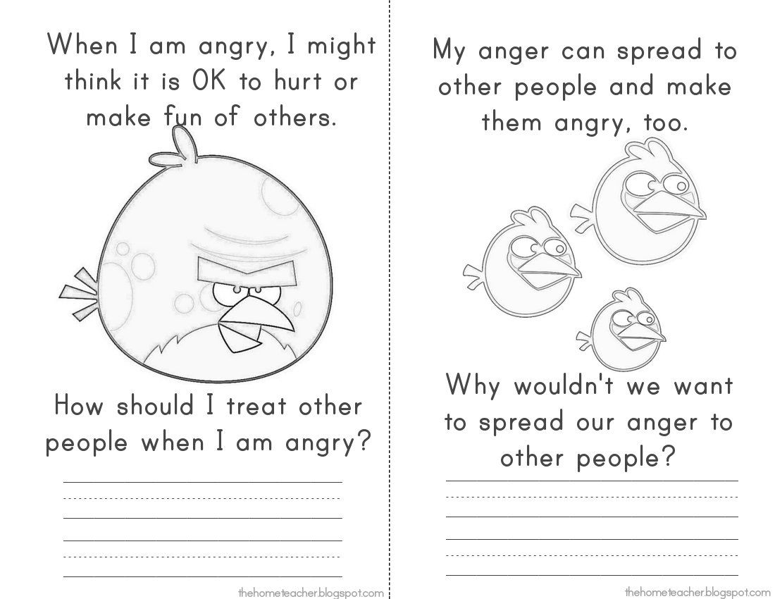 Bullyandbluebirdpage Jpg 1 100 850 Pixels Anger Counselling Counseling Activities Anger