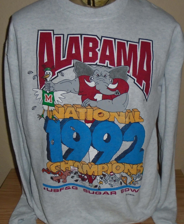 Vintage 1992 Alabama Crimson Tide Championship Sweatshirt Large By Vintagerhino247 On Etsy Alabama Crimson Alabama Crimson Tide Sweatshirts [ 3000 x 2471 Pixel ]