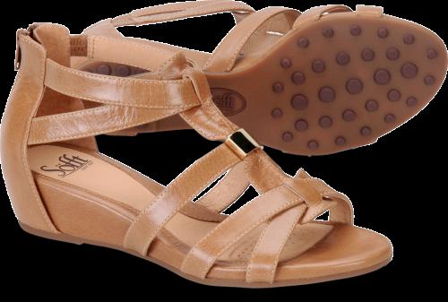 4475a999e30 Zip Leather Gladiator 8 Sandals   Flip Flops for Women. Sofft Bernia