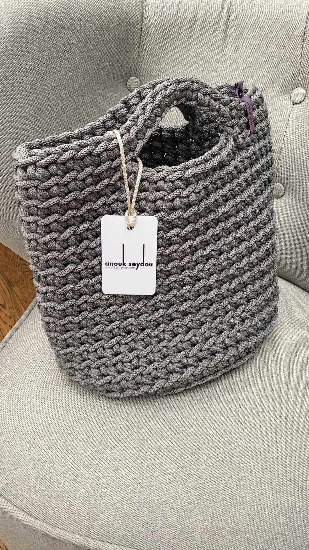 Photo of Skandinavische minimalistische umweltfreundliche gehäkelte Einkaufstaschen