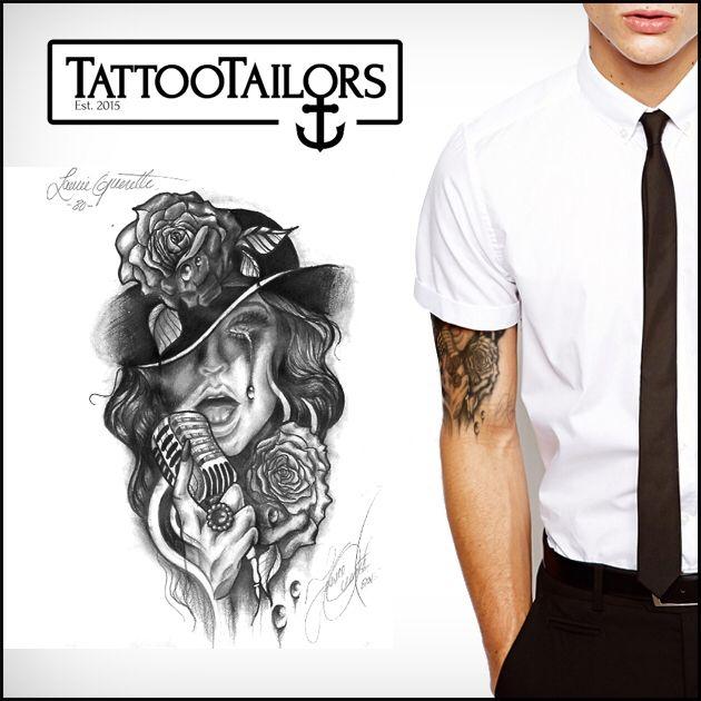 Buy Yourself Custom Tattoo Designs At Www Tattootailors Com Tattoo Design Ideas Clown Tattoo Www Tat Custom Tattoo Custom Tattoo Design Black White Tattoos