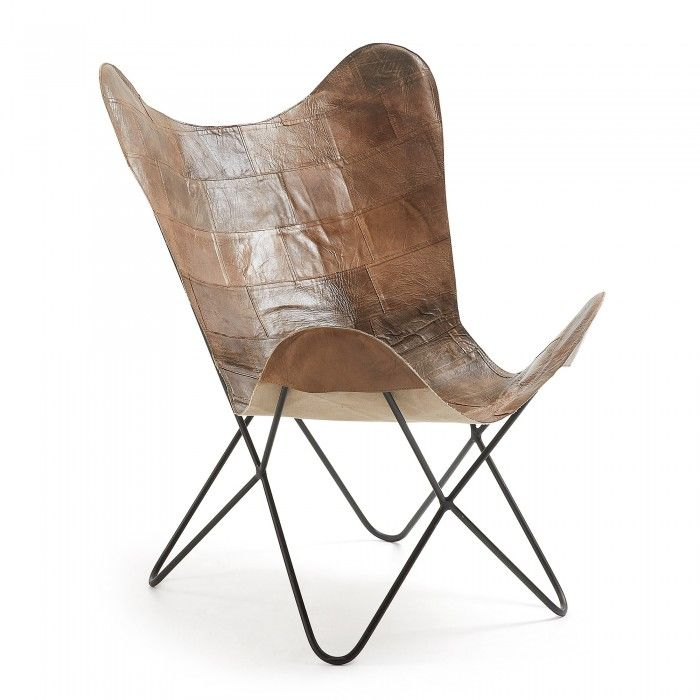 Fly Armchair Leather Brown Fauteuil Fly Fauteuil Chaise En Patchwork