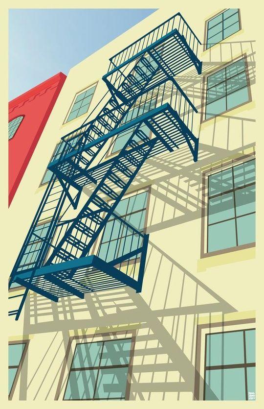 """Greenwich Village New York City"" by Remko Gap Heemskerk on #INPRNT - #illustration #print #poster #art"