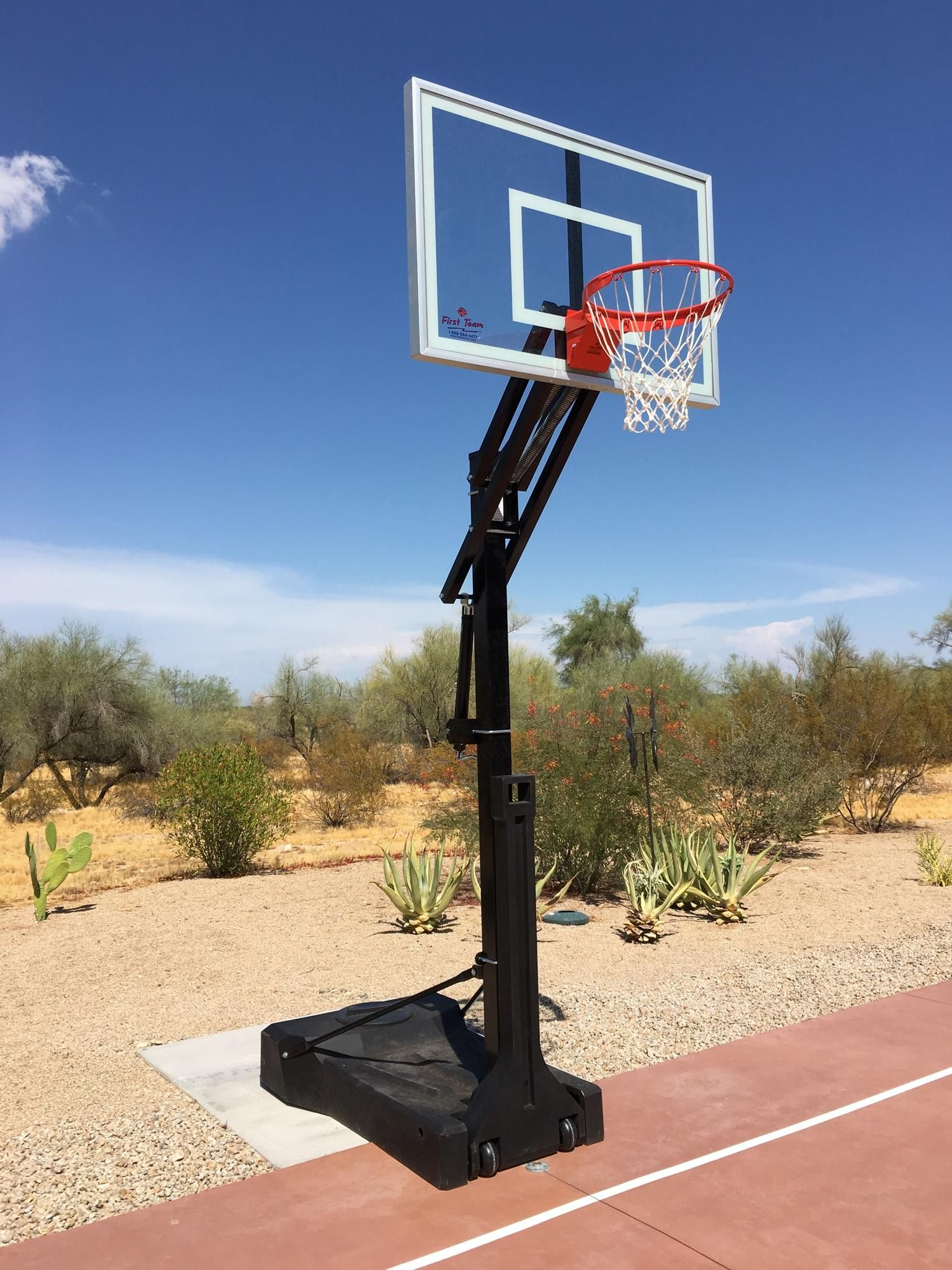 why settle for cheap flimsy portable basketball goals that blow