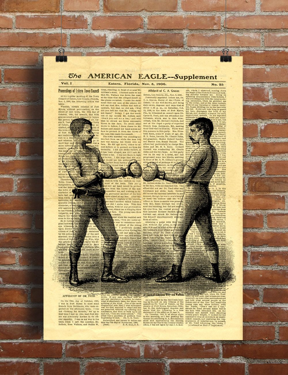 Box Boxing Fight Fighting Men Vintage Sport Printable Collage Old ...