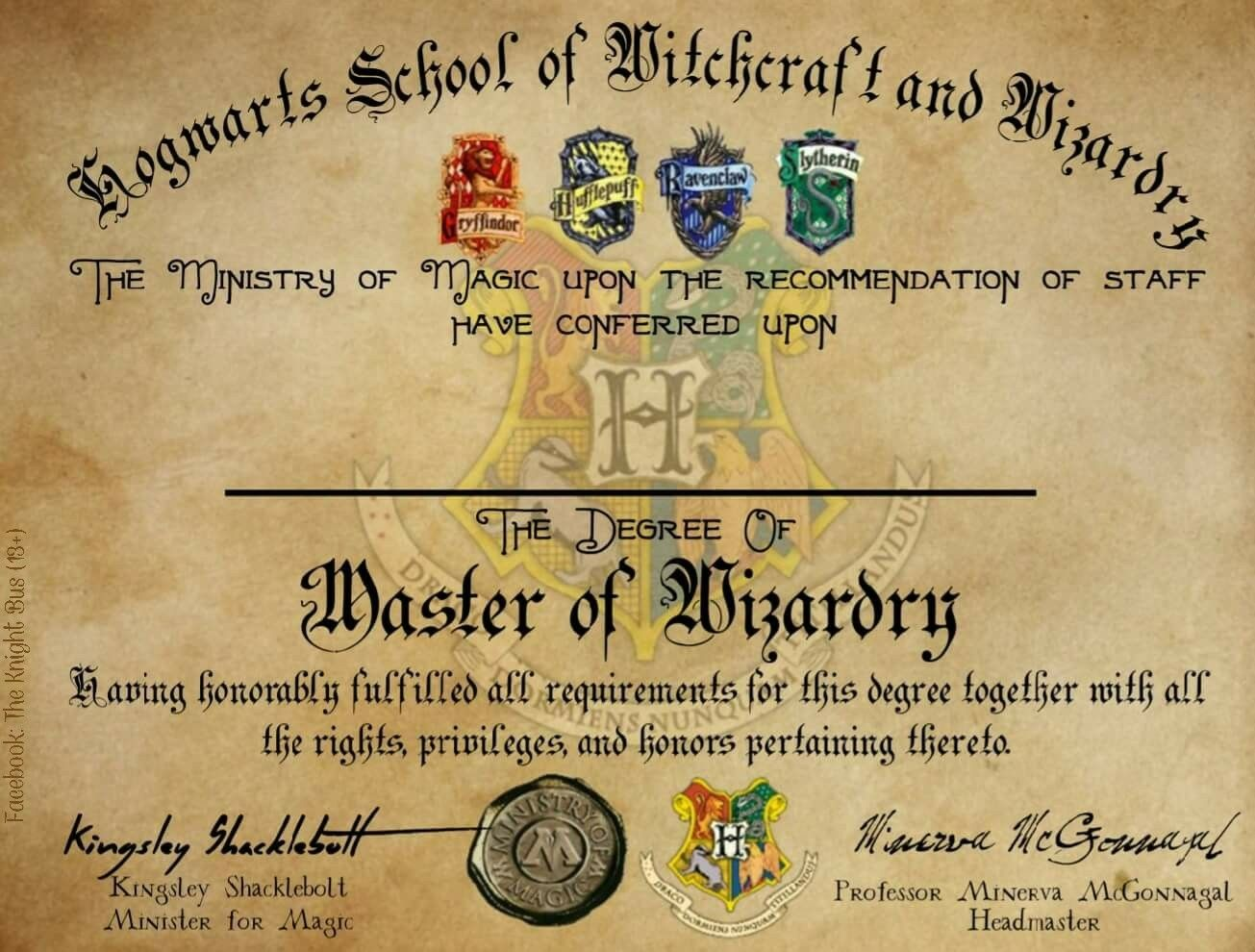 hogwarts graduation diploma template harry potter fillable design hogwarts houses