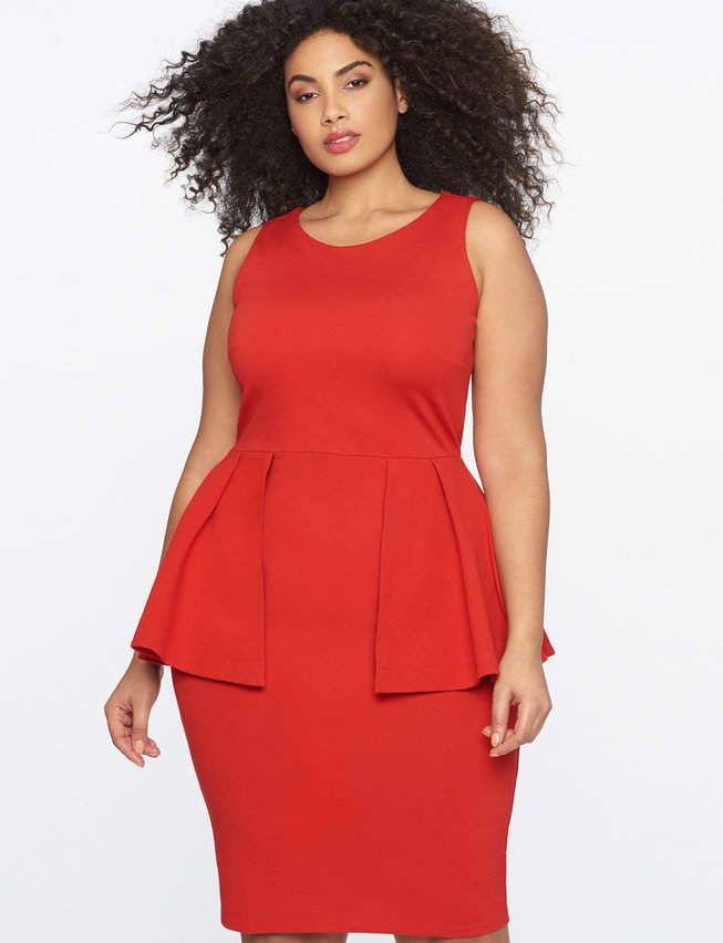 Sleeveless Peplum Sheath Dress | Women\'s Plus Size Dresses ...