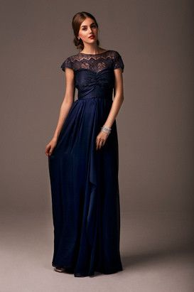 78 Best images about Navy Bridesmaids Dresses LONG on Pinterest ...