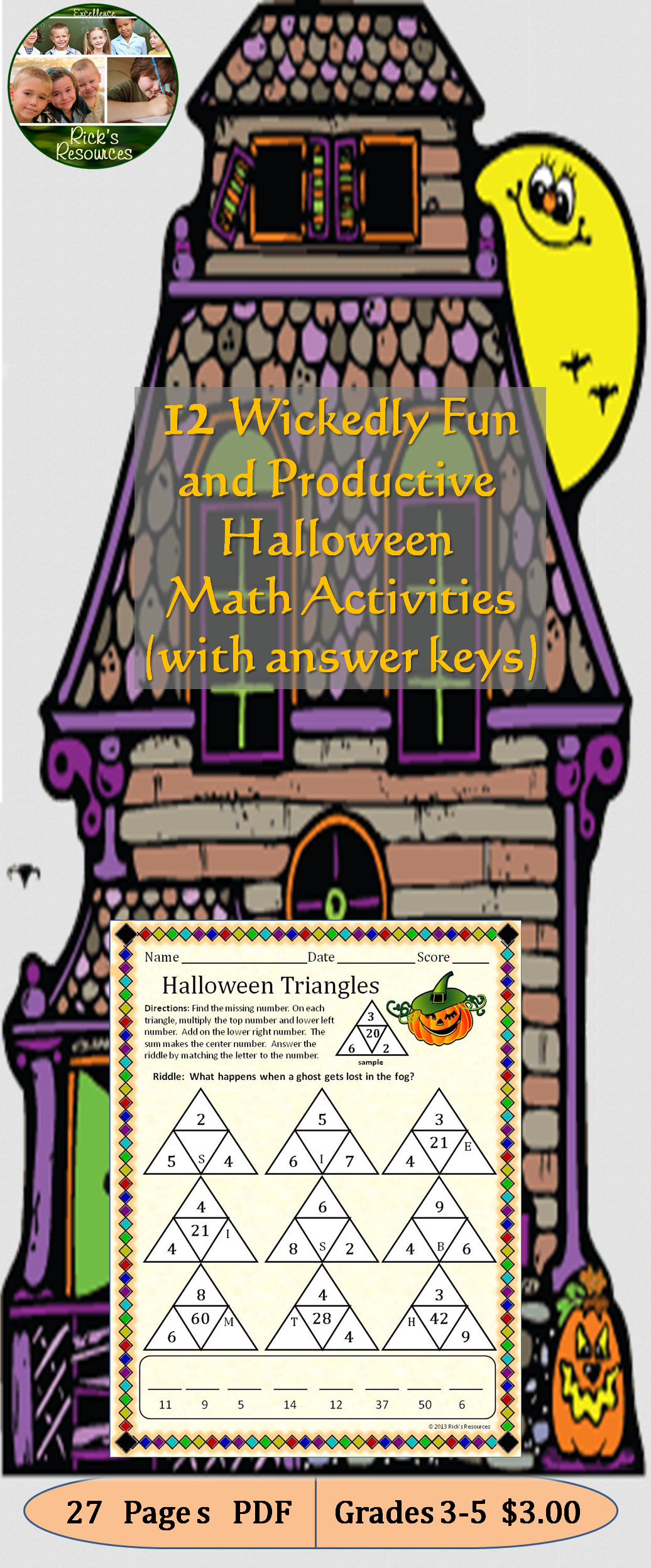 Halloween Math Activities School