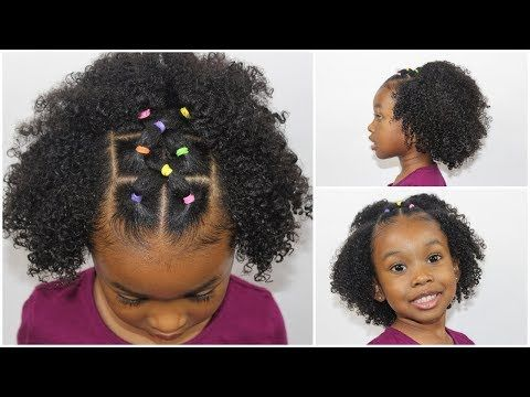 Easy 20 Minute Rubber Band Hairstyle Hair Tutorial For Little Girls Youtube In 2019 R In 2020 Rubber Band Hairstyles Natural Hair Styles Natural Hair Styles Easy
