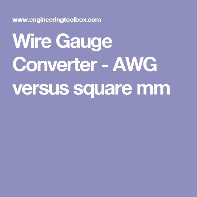 Wire gauge converter awg versus square mm wire pinterest wire gauge converter awg versus square mm greentooth Image collections
