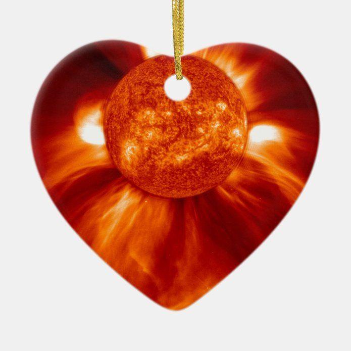 Sun Blast Ceramic Ornament - tap/click to personalize and buy #CeramicOrnament #spacesunblastsun #blastburstorangeredyellowstarnasaesasohoweltraumweltallsonneneruption