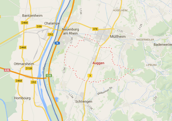 Auggen, Germany from Google Maps