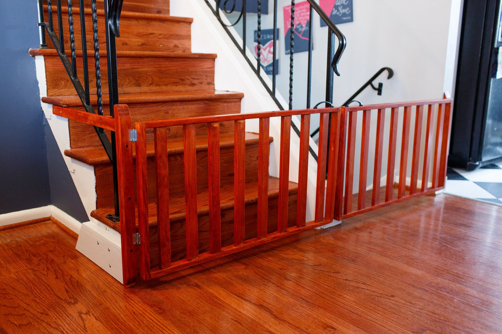 Custom Made Wood Baby Dog Gates For A Split Level Home
