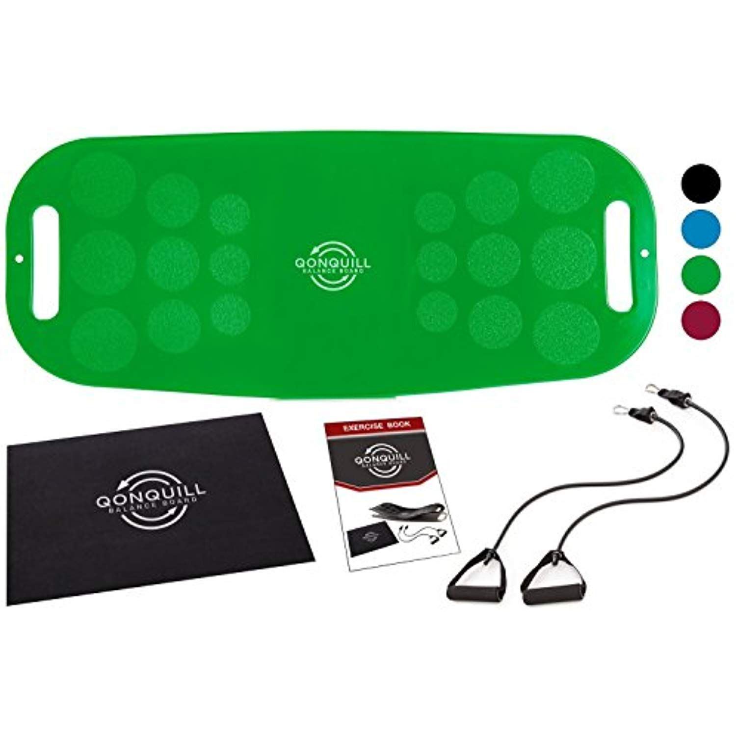 Balance Board Set Premium Quality Fit Board Workout Mat 2 Resistance Bands Exercise Book C Fit Board Workouts Resistance Workout No Equipment Workout
