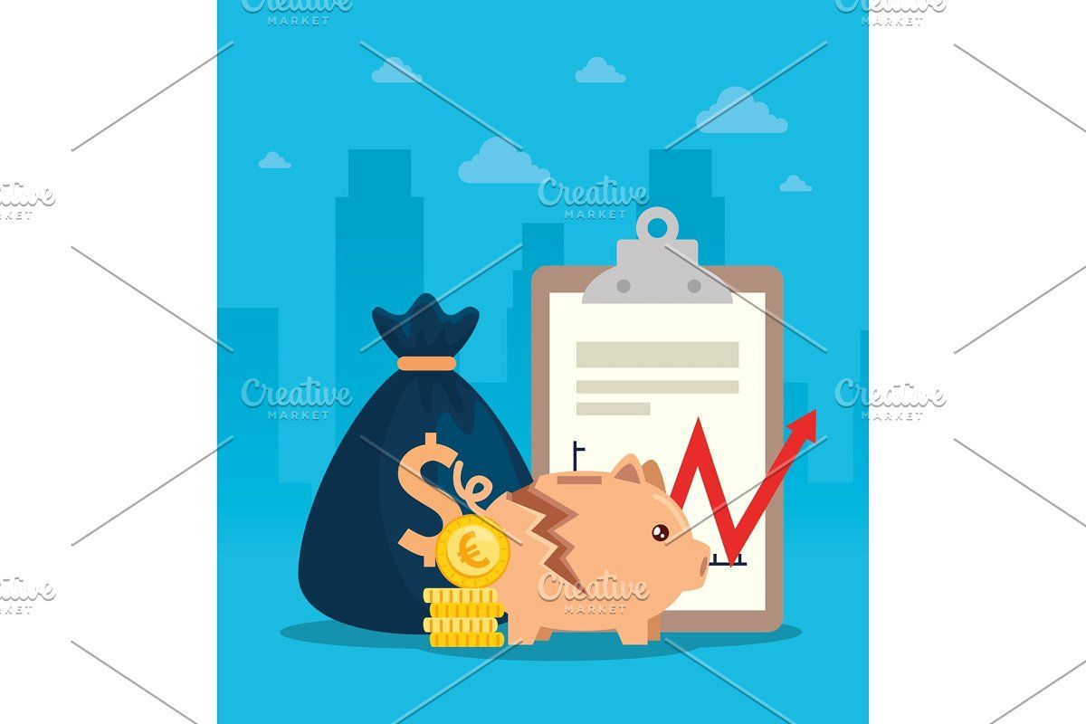 Stock Market Crash With Piggy Bank In 2020 Stock Market Crash Custom Piggy Bank Stock Market