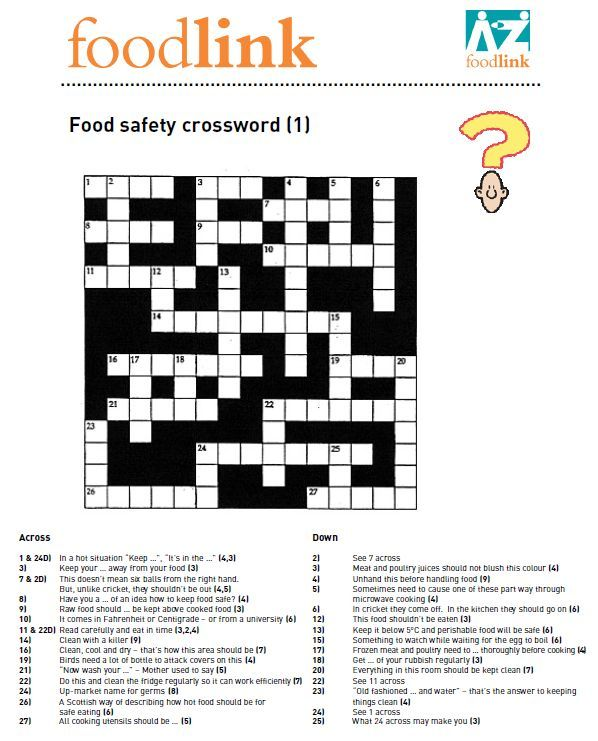 Food safety puzzles and activities to get pupils thinking about - food safety quiz