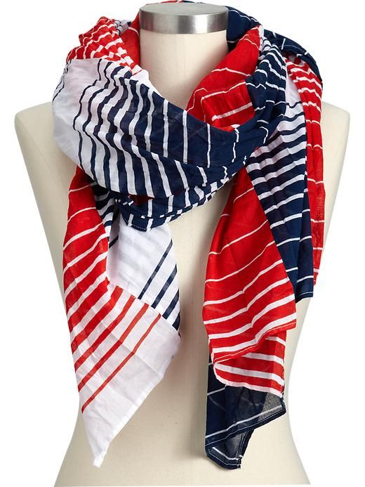 Old Navy Women S Variegated Multi Stripe Scarves Types
