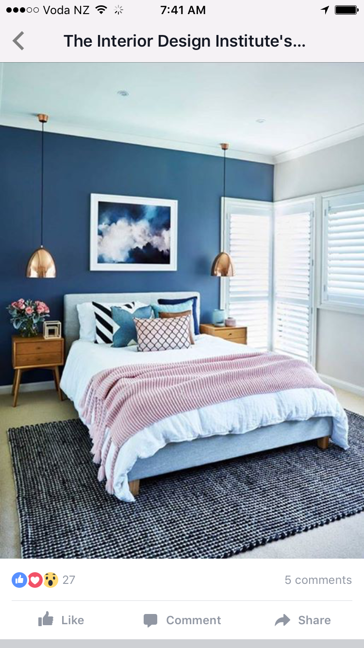 Navy Pink And Yellow Small Apartment Bedrooms Apartment Bedroom Design Luxury Bedroom Master