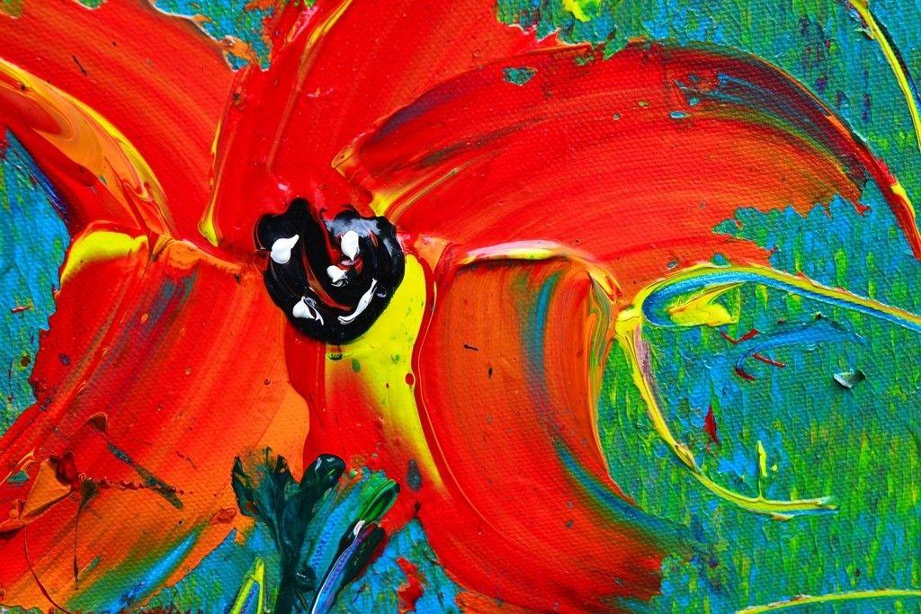 abstracte bloemen schilderen - Google zoeken