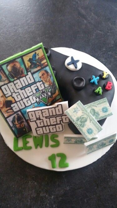 Grand Theft Auto Gta Cake With Images Happy Birthday To You
