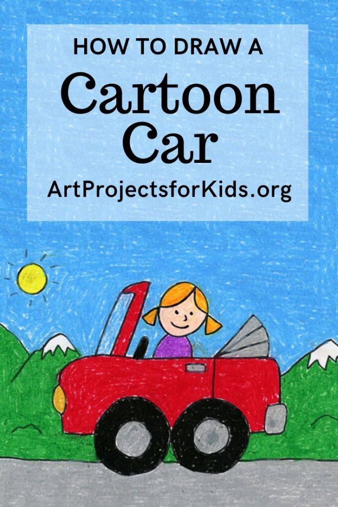 How to Draw an Easy Car · Art Projects for Kids