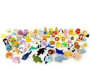 Amazon.com: Iwako Erasers Animal Overstock (Pack of 20): Toys & Games
