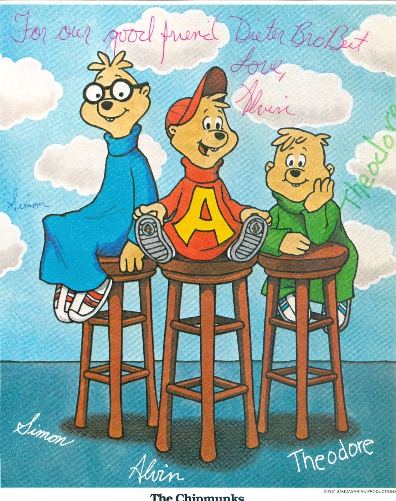 The Chipmunks C Bagdasarian Productions 1981 With Images