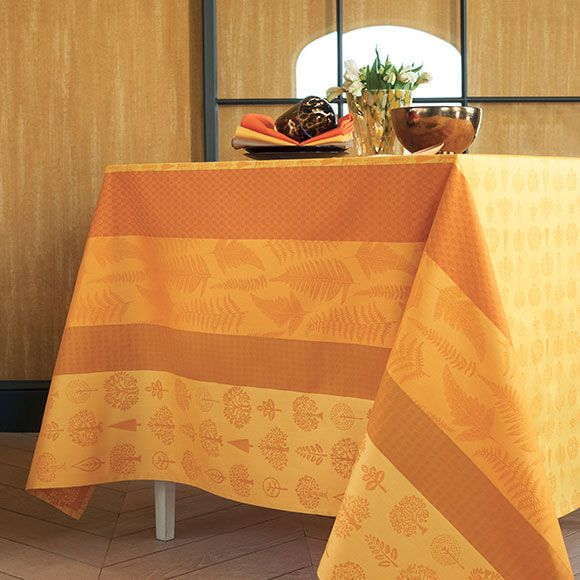 Mille Forest Autumn Tablecloth Two Ply Twisted Cotton, 4 Hems