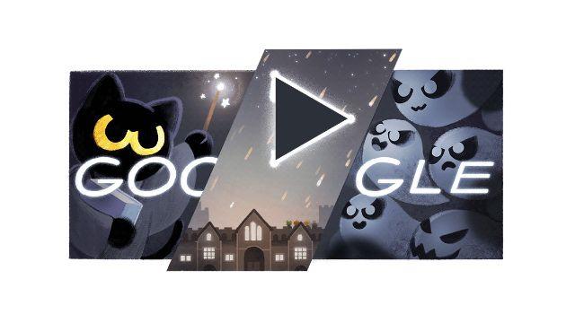 Pin By 彥妤林on Google Google Doodle Halloween Halloween Doodle Doodles Games