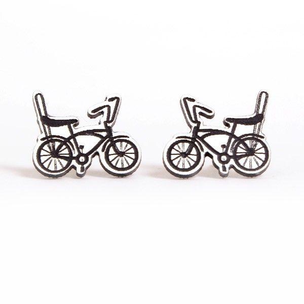 White Bike Earrings - Aretes bicicleta blanca