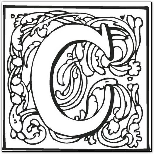 Coloring Pages Of Fancy Alphabet Letters : Fancy block alphabet coloring page �