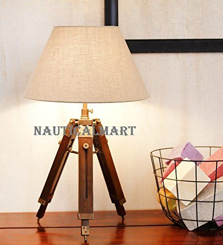Nickle Finish Tripod Table Lamp With Cotton Shade By Naut Https Www Amazon Com Dp B01nbs6y3z Ref Cm Sw R Pi Dp X Tripod Table Lamp Lamp Tripod Floor Lamps