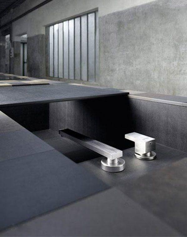 Kitchen Sunken Faucet PaperStone Sink Grey Brown Black Plaid Hue Kitchen  Drawer Unique Ornament Eco Minimalist Pictures Gallery