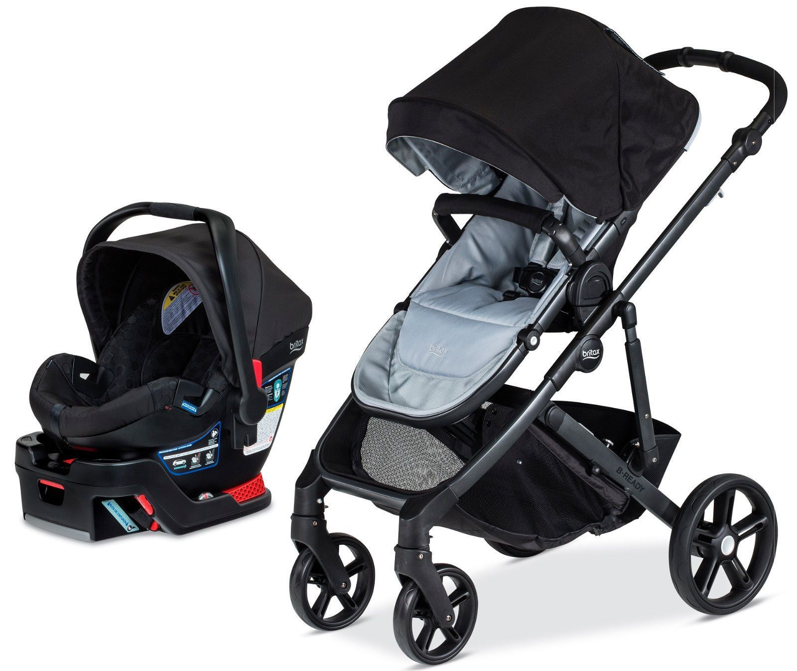 Britax BReady Travel System Baby Stroller w/ B Safe 35
