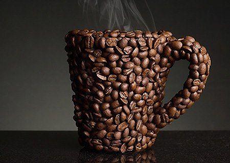 coffee grains mug