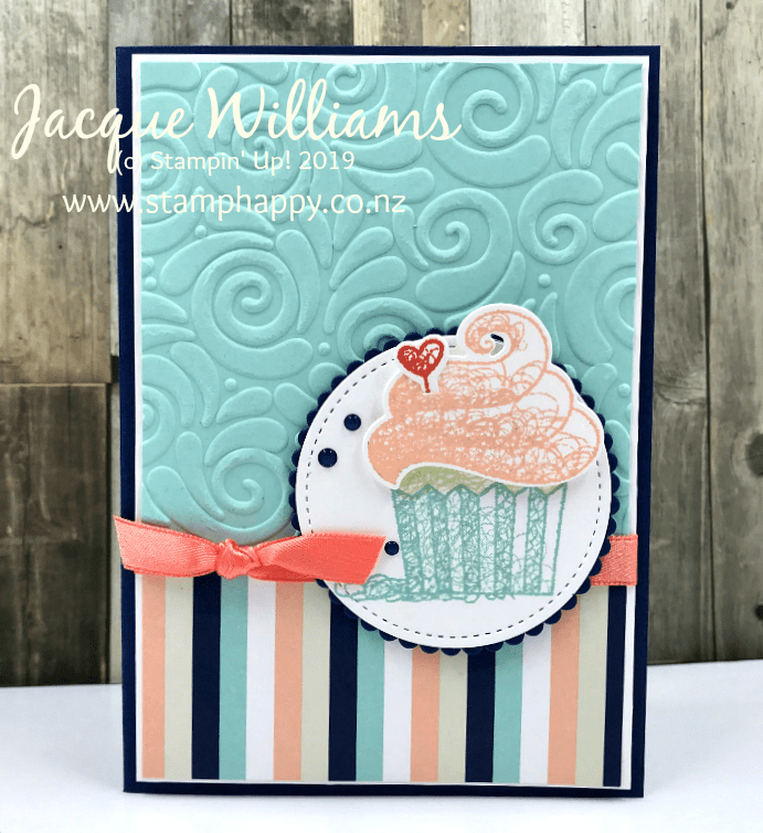 Hello Cupcake Quick Birthday Cards Stamp Happy Jacque Williams Stampin Up Demonstrator In 2021 Simple Birthday Cards Stampin Up Birthday Cards Embossed Cards
