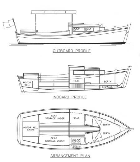 Redwing 18 Power Camp Cruiser Chesapeake Marine Design
