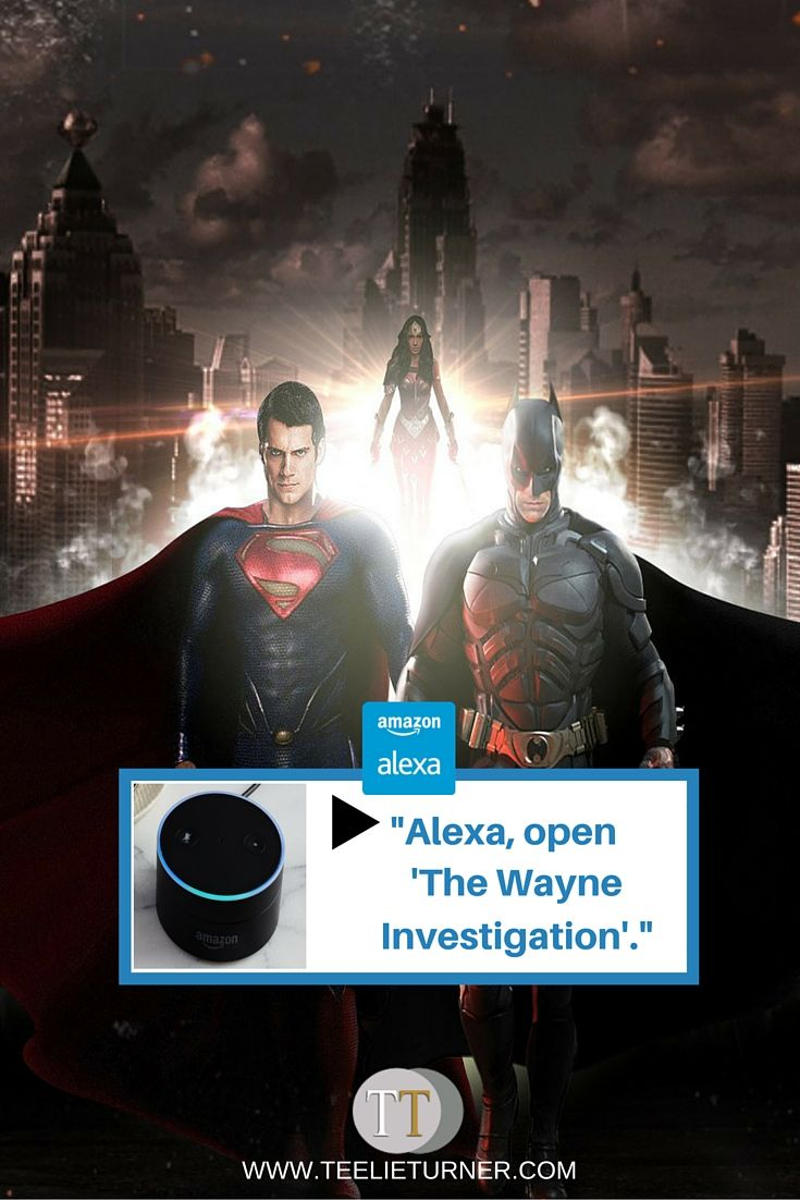 "New skill:""The Wayne Investigation""- www.theteelieblog.com Enable the new skill,""The Wayne Investigation"" in your Alexa App.  #amazonalexa"