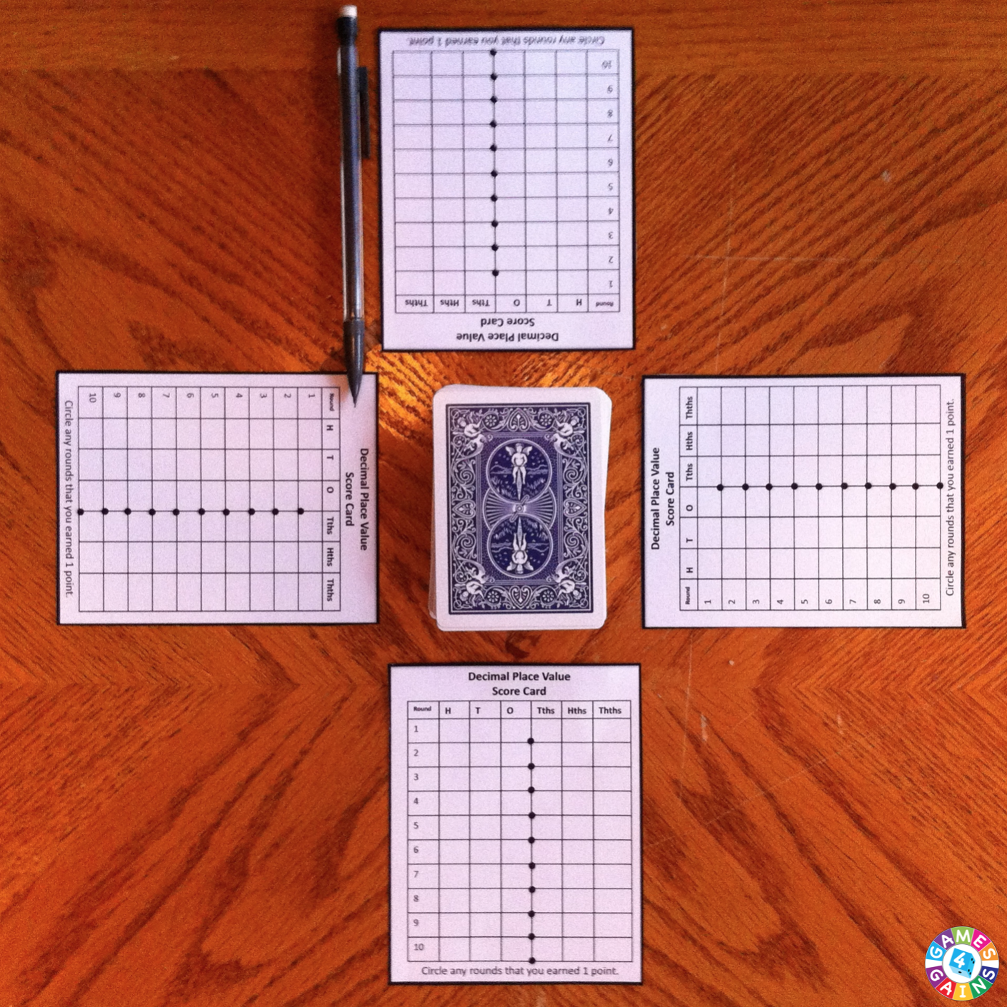 Decimal place value with playing cards decimal places math and decimal place value with playing cards nvjuhfo Image collections