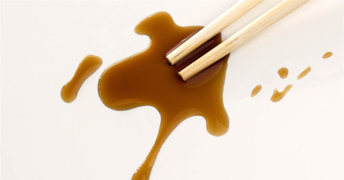 How To Remove Soy Sauce Stains From Anything And Everything Soy Sauce Sauce Stains