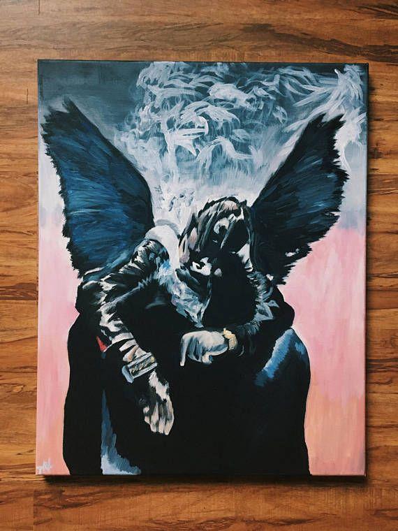 Travis Scott Birds In The Trap Cover Canvas Art Music Room Art Art Travis Scott Art